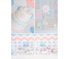 Chevron Gender Reveal Party Baby Shower Printables Collection