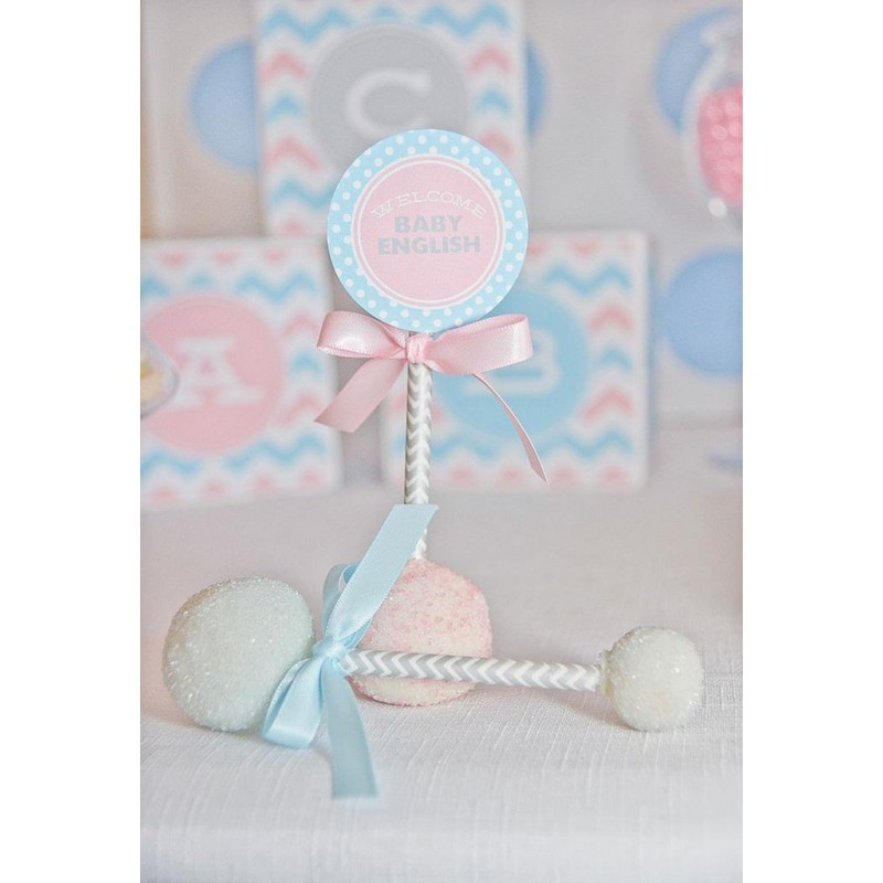 Baby Shower Reveal Party: Chevron Gender Reveal Party Baby Shower Printables Collection