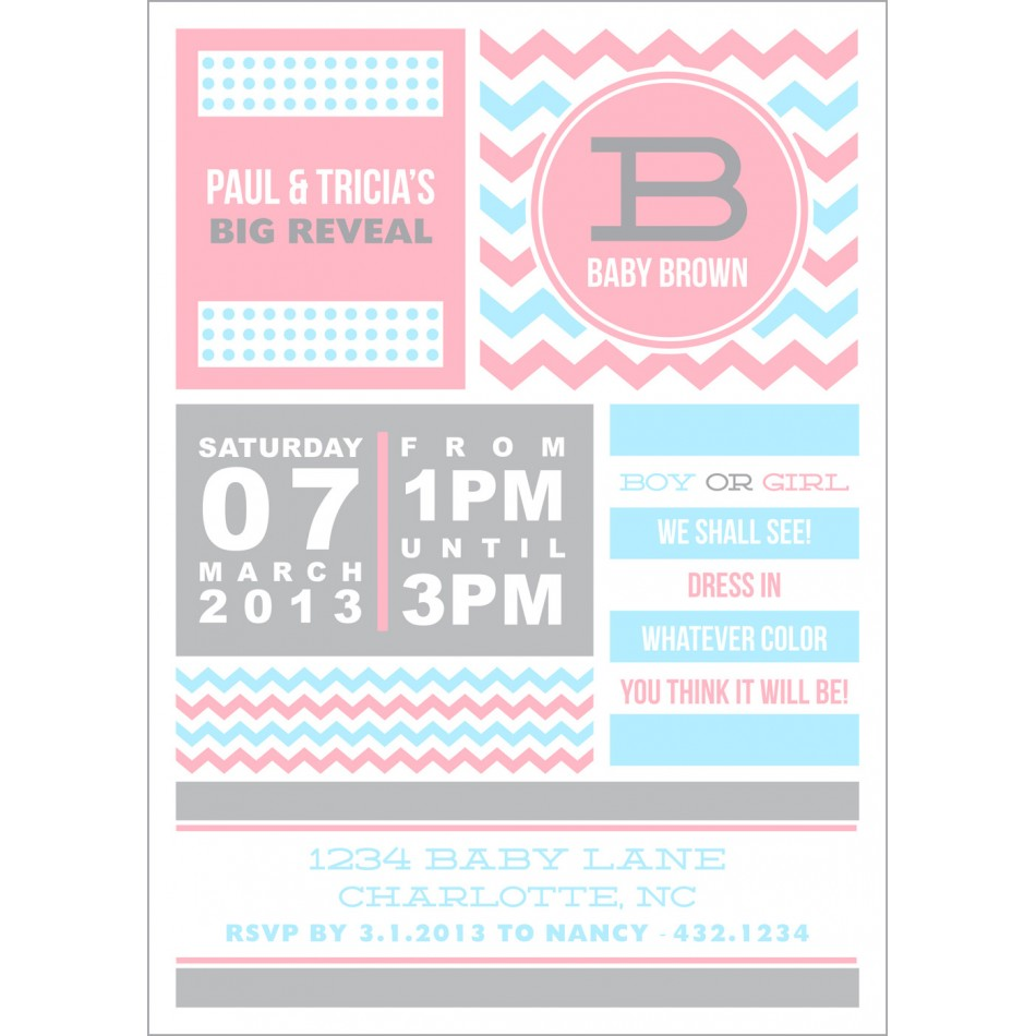 It is an image of Soft Printable Gender Reveal Invitations