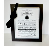 Rules of a Gentleman Poster Printable - Instant Download