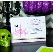Glam-o-ween Glam Halloween Printable Party Invitation