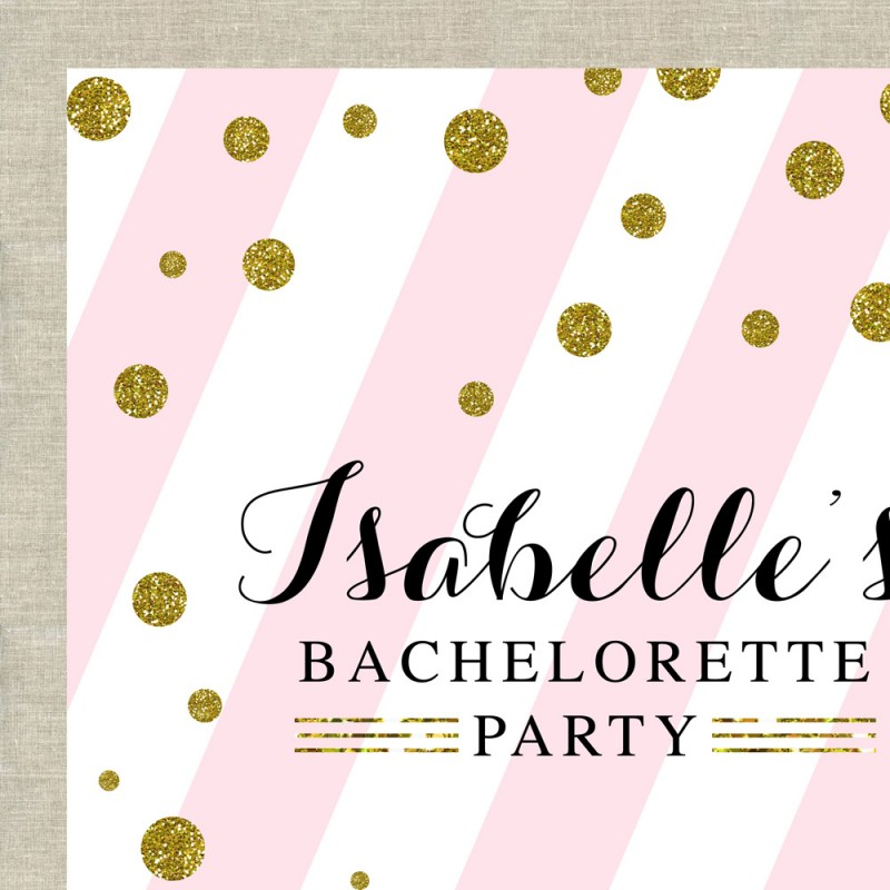 Glitter Polka Dot with Blush Pink Bachelorette Party Printable ...