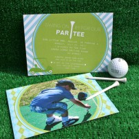 Preppy Golf Birthday Party Printable Invitation