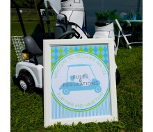 "Preppy Golf Birthday Party Printable ""Rules and Regulations"" Sign"