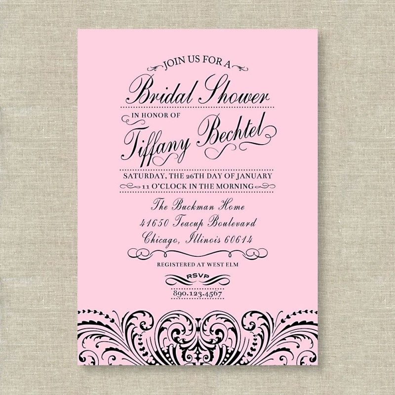 Lace Bridal Shower or Bachelorette Party Printable Invitation – Bridal Shower and Bachelorette Party Invitations
