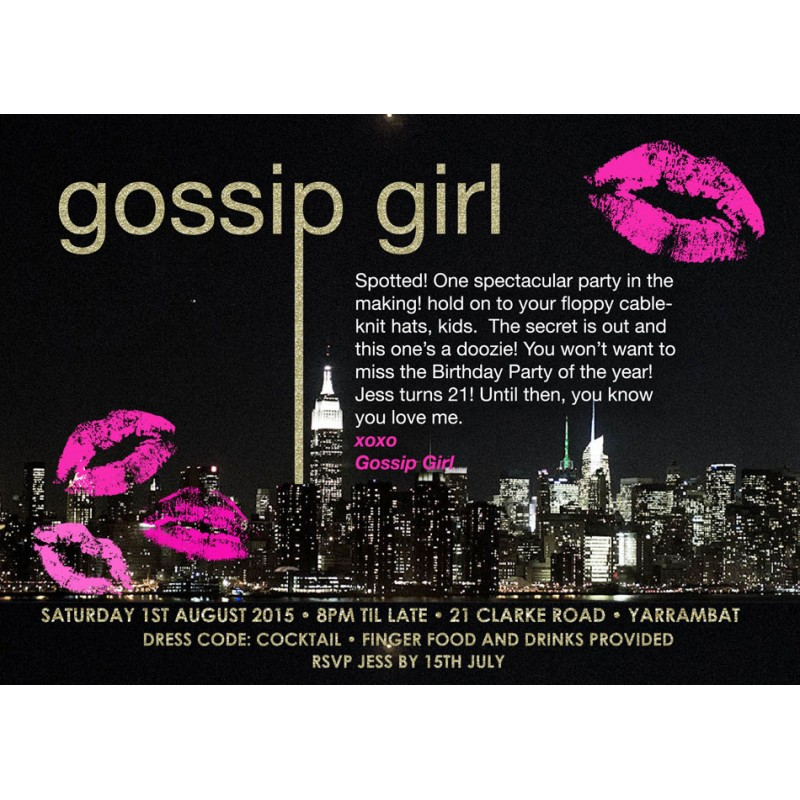 Gossip Girl Inspired Gold Glitter NYC Birthday Party ...