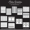 Modern Graduation Party Printable Collection - Black, Silver, Gold and White