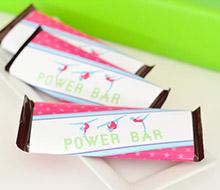 Gymnastics Tumbling Party Printable Chocolate Bar Wrappers