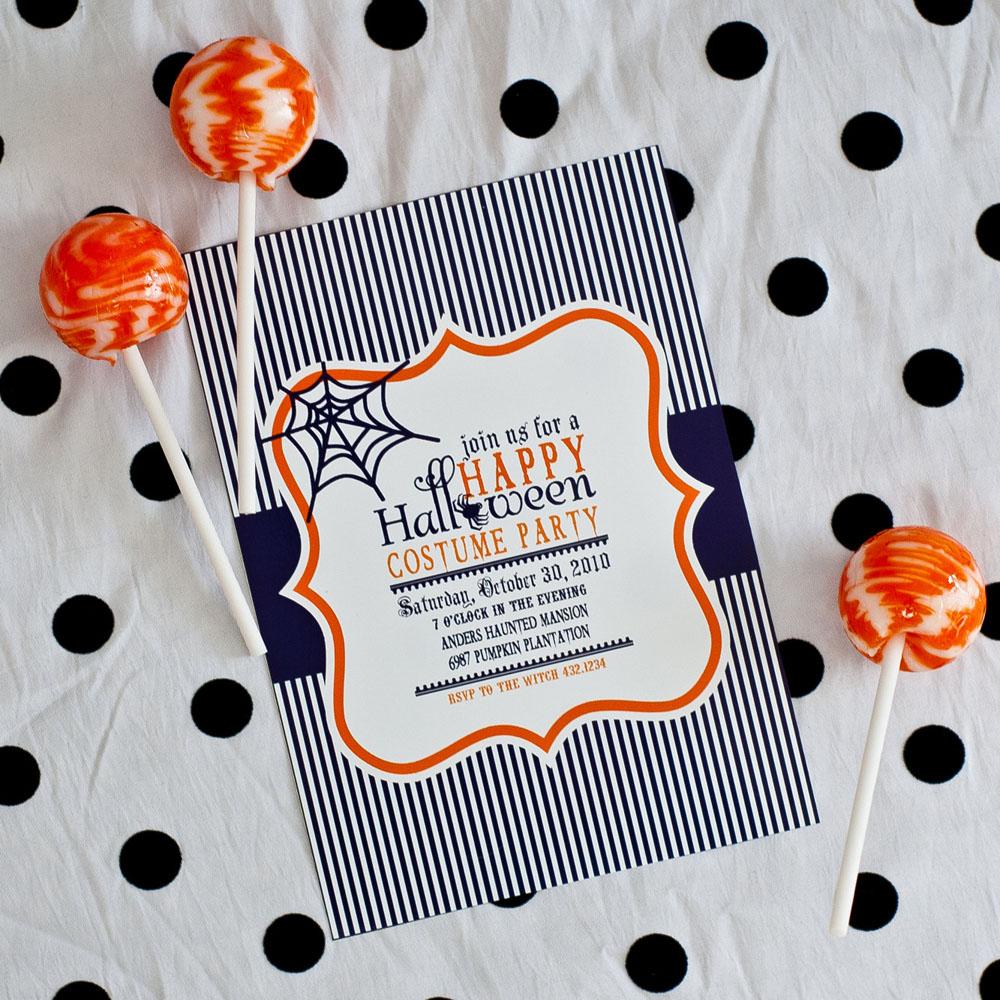 Happy Halloween Party Printable Invitation