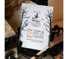 Wicked Witch Halloween Party Printable Invitation