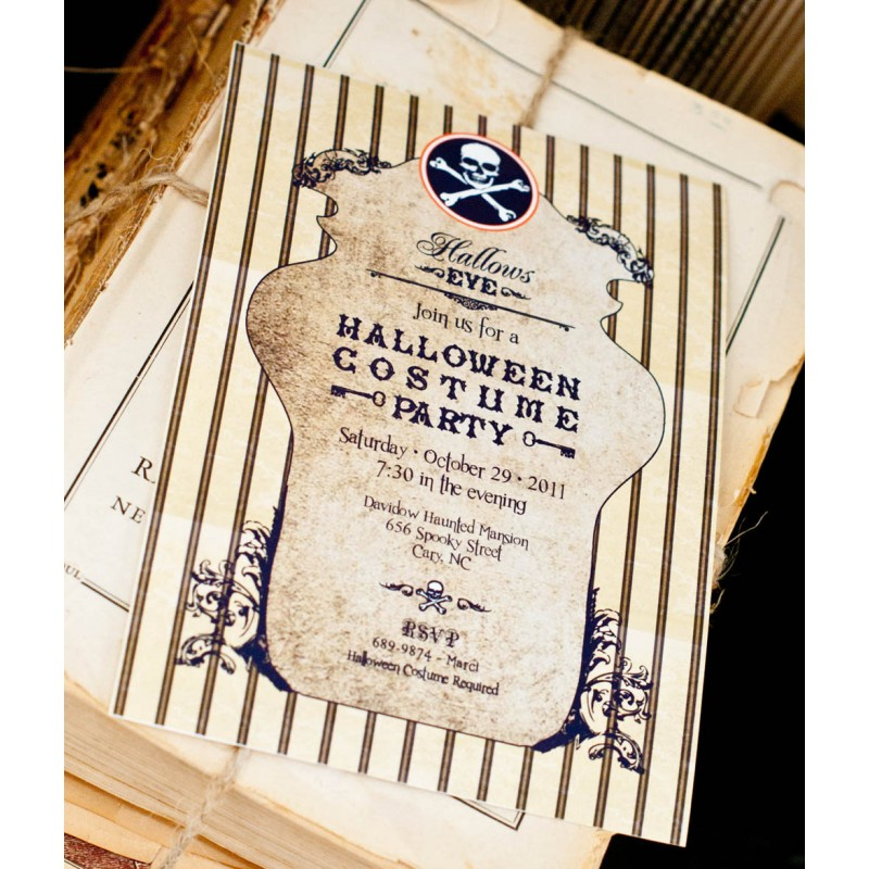 Haunted Halloween Costume Party Printable Invitation