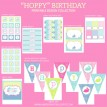 Hoppy Birthday Bunny Birthday Party Printables Collection