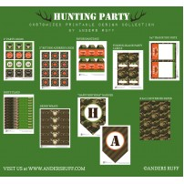 Hunting Camouflage Birthday Party Printable Collection