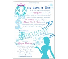 Ice Princess Fairy Tale Party Printable Invitation