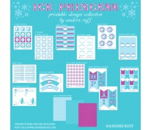 Ice Princess Birthday Party Printables Collection