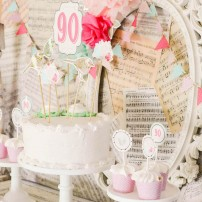Shabby Chic Vintage Rose and Polka Dot Birthday Printable Package - Jaci Collection