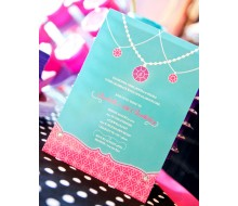 Glamour Girl Jewelry Birthday Party Printable Invitation