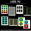 Laser Tag Black Neon Birthday Party Printable Collection