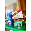 Modern Building Bricks Birthday Party Printable Race Game Set