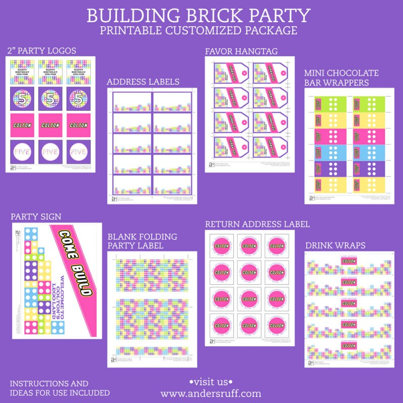 Lego Friends Party Printables - Worksheet & Coloring Pages