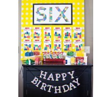 "Modern Building Brick Birthday Party Printable Age Sign - 20"" x 30"""