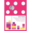 Contemporary Building Brick Birthday Party Printable Invitation - Pink