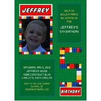Building Brick Board Photo and Age Printable Invitation