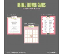 Bridal Shower Games Printables - Instant Download