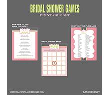 bridal shower games printables instant download