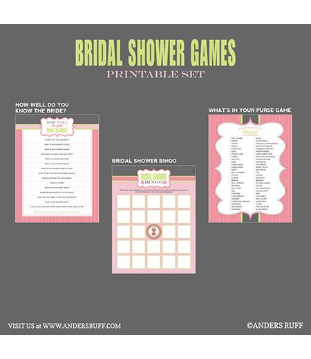 Bridal Shower Games Printables