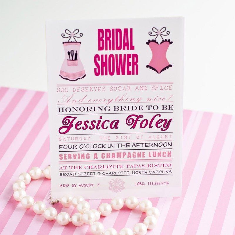and Spice Bridal Shower Bachelorette Printable Invitation