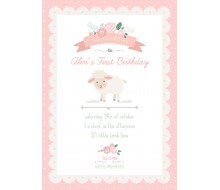 Little Lamb Birthday Party Printable Invitation