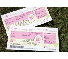 Luau Airline Ticket to Hawaii Boarding Pass Printable Invitation