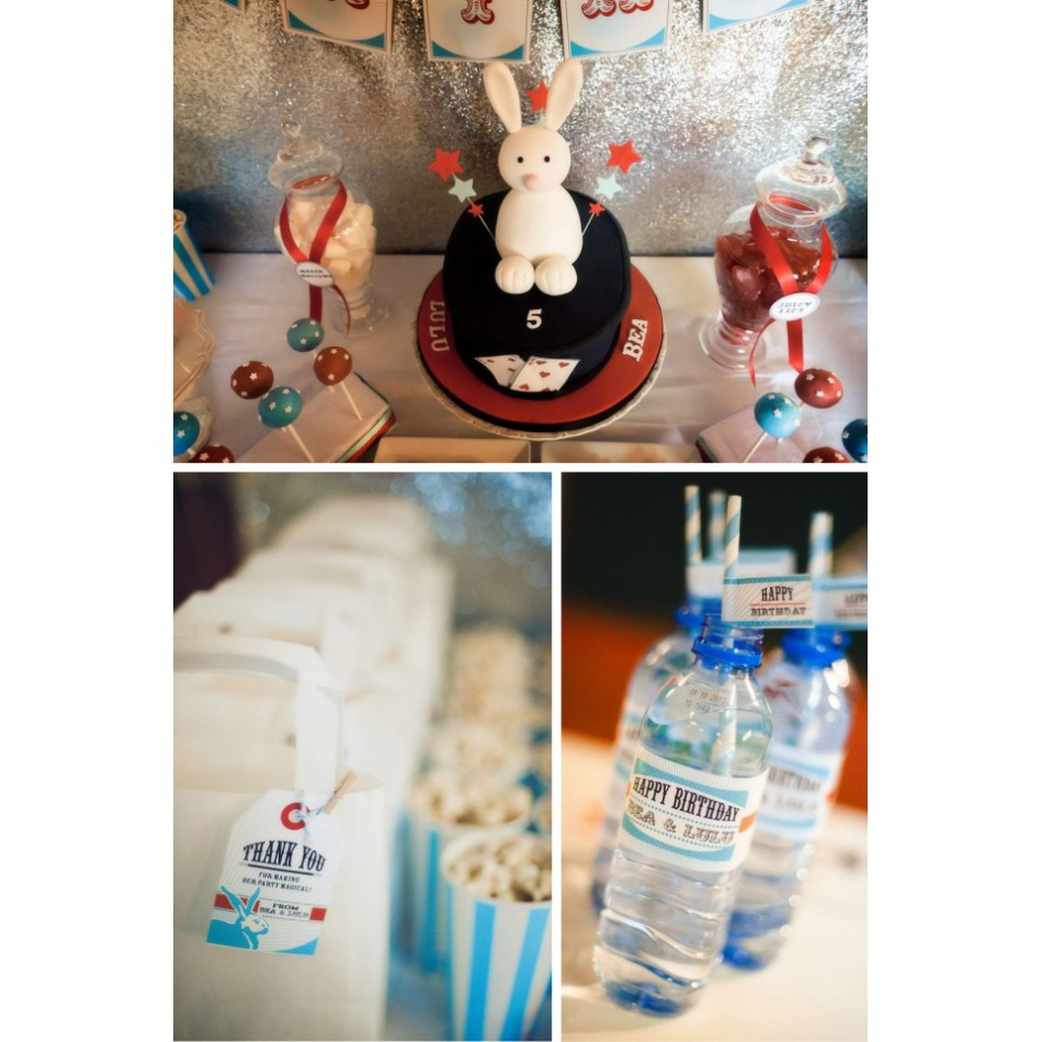 vintage magic show birthday party printables collection red aqua. Black Bedroom Furniture Sets. Home Design Ideas