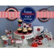 Memorial Day Printable Party Collection - Red White and Blue - Instant Download