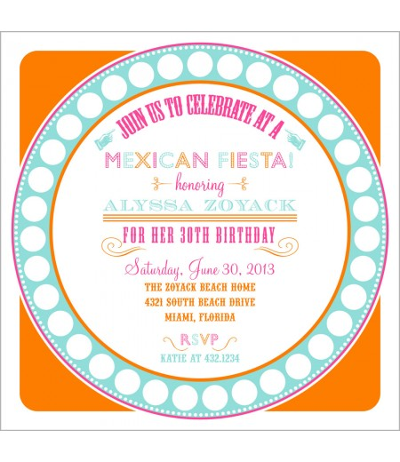 Mexican Fiesta Party Printable Invitation