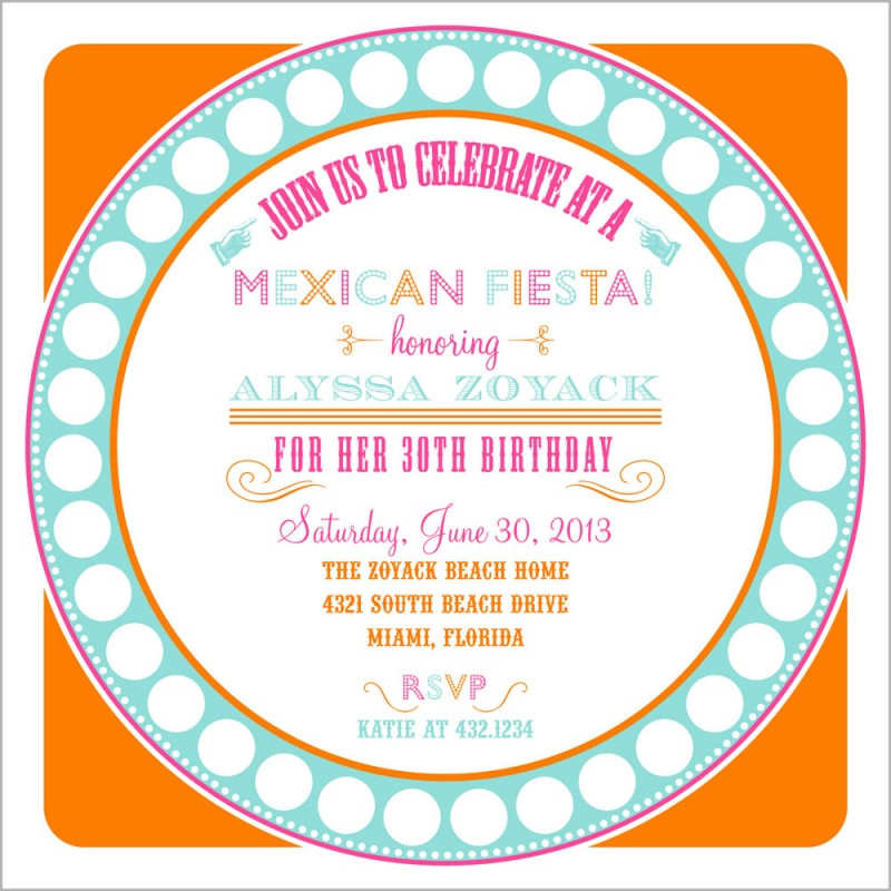 Fiesta Party Printable Invitation – Mexican Themed Party Invitations