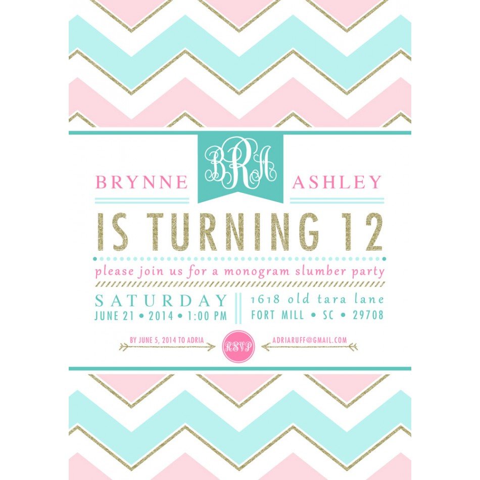 Tween Girl Birthday Invitations Pictures to Pin – Teenage Girl Party Invitations