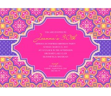 Moroccan Party Printable Invitation