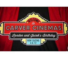 Movie Birthday Party Customized Printable Sign
