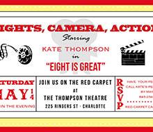 movie theater birthday party printable invitation