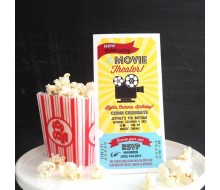 Movie Theater Birthday Party Printable Invitation