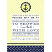 Nautical Baby Shower or Party Invitation - Navy and Yellow