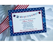 Ahoy It's A Boy Nautical Baby Shower Printable Invitation