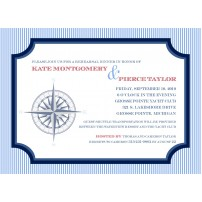 Nautical Seersucker Sailing Compass Printable Invitation