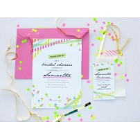 Neon Bridal Shower or Birthday Party Printable Invitation