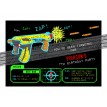 Nerf Gun Black Neon Birthday Party Printable Invitation