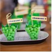 "Ninja Birthday Party Printable ""Edamame"" Party Flags Labels - Instant Download"