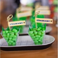 """Ninja Birthday Party Printable """"Edamame"""" Party Flags Labels - Instant Download"""