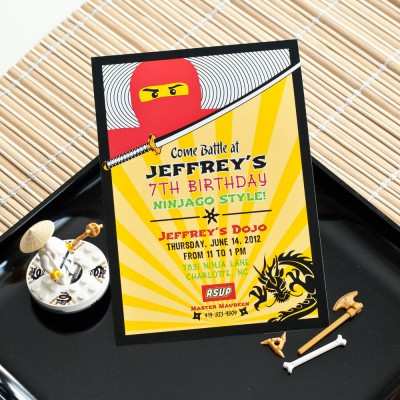 Ninja Birthday Party Printable Invitation